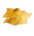 Gold Metal Foil Glitter Brush Stroke Golden vector image vector image
