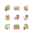 grocery categories rgb color icons set vector image
