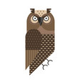 grumpy owl geometric icon in flat design vector image vector image