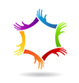 Hands in Circle Logo vector image vector image