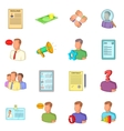 Human resources icons set flat style vector image vector image