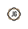 initial letter jg elegance logo design template vector image vector image