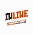 inline style font vector image vector image