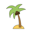 island with palm tree icon image vector image vector image