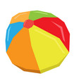 isolated geometric beach ball vector image vector image