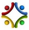 isolated teamwork logo vector image vector image