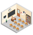 Isometric classroom education room teaching