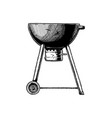 kettle grill vector image