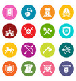 knight medieval icons set colorful circles vector image vector image