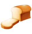 Loaf of bread and single slice vector image