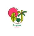 logo tropics vector image vector image