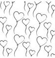 love balloons shape heart romantic lovely seamless vector image