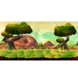 Low poly landscape for your design vector image vector image