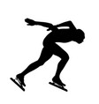 male speed skater athlete vector image vector image