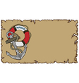 marine theme old parchment with anchor vector image vector image