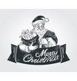 Merry Christmas and Happy New Year logo vector image vector image