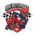 mini motorbike racing design vector image vector image