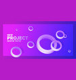 modern abstract background template with circles vector image vector image