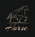 modern horse logo vector image