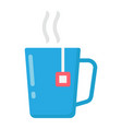 mug of tea flat icon business and breakfast vector image