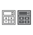 online calculator line and glyph icon finance vector image vector image