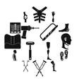 orthopedics prosthetics icons set simple style vector image