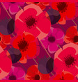 poppy flowers and seed boxes seamless pattern vector image vector image