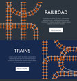 railroad with different padding vector image vector image