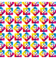rainbow pattern vector image
