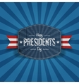Retro blue Banner with Happy Presidents Day Text vector image vector image