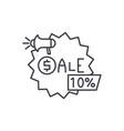 sales line icon concept sales linear vector image vector image