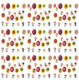 seamless background with numbers on balloons vector image vector image