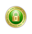 secure transaction padlock icon vector image vector image