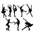 set figure skating collection girls figure vector image vector image