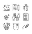 set of business or finance icons in sketch style vector image