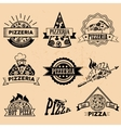 Set of Pizza Labels in vintage style Icons vector image vector image