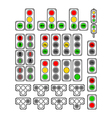 Set of Types Traffic Lights vector image vector image