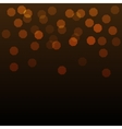 Shining Gold Bokeh on Dark Background vector image vector image