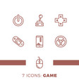 simple set games related line icons contains vector image