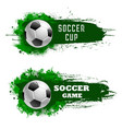 soccer cup championship or football game icons vector image