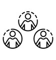 social people network icon outline style vector image