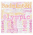 Sports And The Oylmpics text background wordcloud vector image vector image