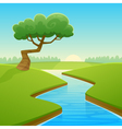 Summer Cartoon Landscape vector image
