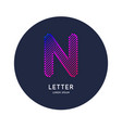 the letter n latin alphabet display vector image vector image