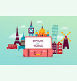 travel and tourism concept design with open vector image