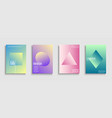 trendy colorful minimalistic covers templates vector image
