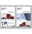 Trucking Flyer design template vector image vector image