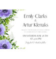 wedding floral invitation card design vector image vector image