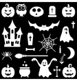 White Halloween icons set vector image vector image
