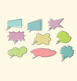 set comic book speech bubbles vector image